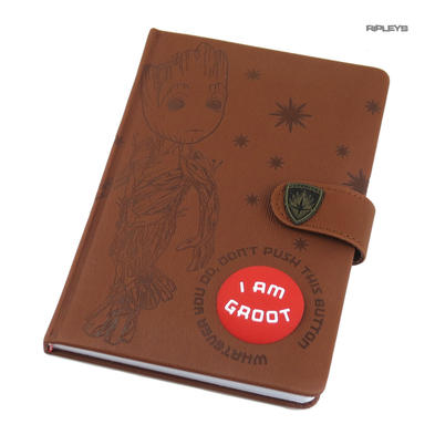 Official Guardians of the Galaxy I AM GROOT Premium A5 Notebook Audio Button