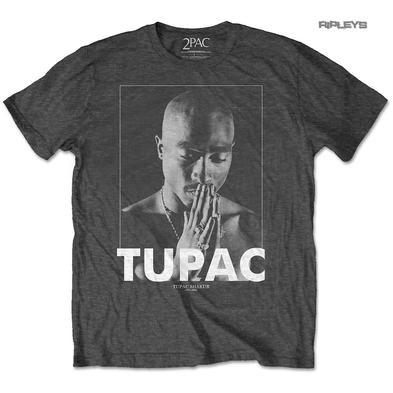 Official T Shirt Rap 2Pac TUPAC 'Praying' Photo Grey All Sizes