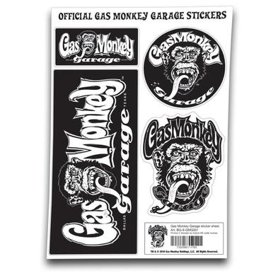 Official Gas Monkey Garage A4 Set of STICKERS #2 Blood Sweat Beers Gift Preview