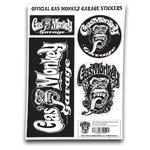 Official Gas Monkey Garage A4 Set of STICKERS #2 Blood Sweat Beers Gift Thumbnail 1