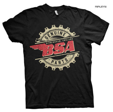 Official T Shirt Motorcycle Bike BSA Birmingham 'Genuine Parts' All Sizes
