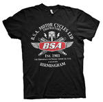 Official T Shirt Motorcycle Bike BSA Est. 1903 Birmingham 'Sparks' All Sizes Thumbnail 2