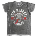 Official T Shirt Gas Monkey Garage 04 Vintage 'Round Seal' Urban Grey  All Sizes Thumbnail 2