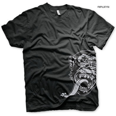 Official T Shirt GMG Gas Monkey Garage Side Logo 'Sidekick' Black All Sizes