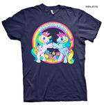 Official Unisex T Shirt MY LITTLE PONY Rainbow 'Best Friends' Navy Blue Thumbnail 1