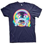 Official Unisex T Shirt MY LITTLE PONY Rainbow 'Best Friends' Navy Blue Thumbnail 2