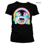 Official Ladies T Shirt MY LITTLE PONY Neon Rainbow 'Best Friends' Black  Thumbnail 1