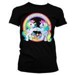 Official Ladies T Shirt MY LITTLE PONY Neon Rainbow 'Best Friends' Black  Thumbnail 2