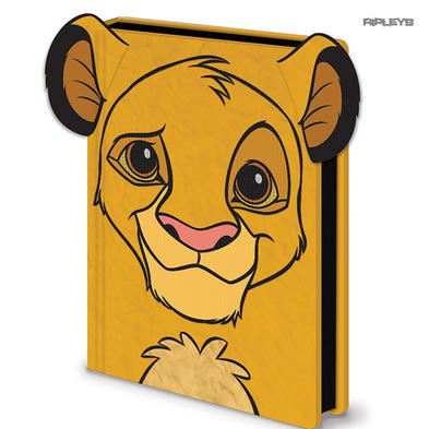 Official THE LION KING A5 Disney Notebook Journal SIMBA Fluffy Stationery Gift