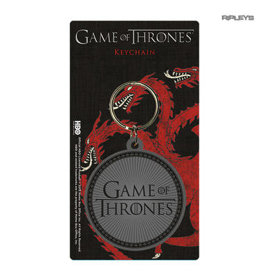 Official GAME OF THRONES Rubber Keyring Keychain Gift LOGO Round Preview