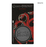 Official GAME OF THRONES Rubber Keyring Keychain Gift LOGO Round Thumbnail 1
