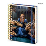 Official ANNE STOKES A5 Notebook Journal Dragon 'Fierce Loyalty' Stationery Gift Thumbnail 1