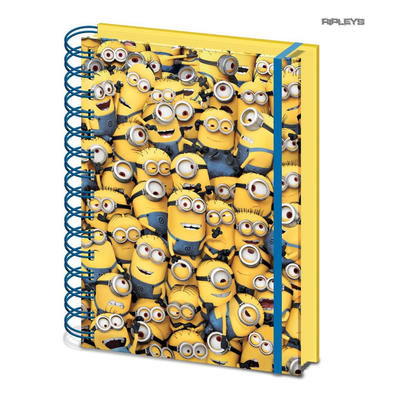 Official DESPICABLE ME A5 Notebook Journal 3D MINIONS Stationery Gift