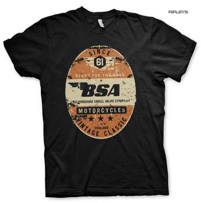 Official T Shirt Motorcycle Bike BSA Birmingham 'Small Arms Company' All Sizes
