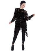 Hell Bunny Spin Dr Black Shirt Top Gothic Vampire Floaty AMORET Blouse Thumbnail 2