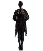 Hell Bunny Spin Dr Black Shirt Top Gothic Vampire Floaty AMORET Blouse Thumbnail 4