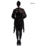 Hell Bunny Spin Dr Black Shirt Top Gothic Vampire Floaty AMORET Blouse Thumbnail 3