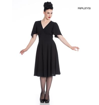 Hell Bunny 40s 50s Elegant Pin Up Dress CAROLINA Cocktail Vintage Black
