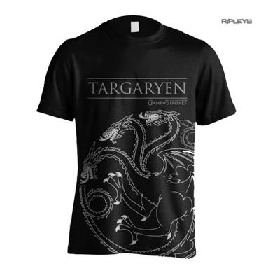Official T Shirt Game of Thrones House Targaryen OUTLINE Dragons All Sizes