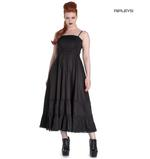 Hell Bunny Spin Doctor Goth Maxi Dress ELIZABELLA Black All Sizes Thumbnail 1