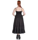 Hell Bunny Spin Doctor Goth Maxi Dress ELIZABELLA Black All Sizes Thumbnail 4