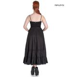 Hell Bunny Spin Doctor Goth Maxi Dress ELIZABELLA Black All Sizes Thumbnail 3