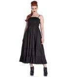 Hell Bunny Spin Doctor Goth Maxi Dress ELIZABELLA Black All Sizes Thumbnail 2