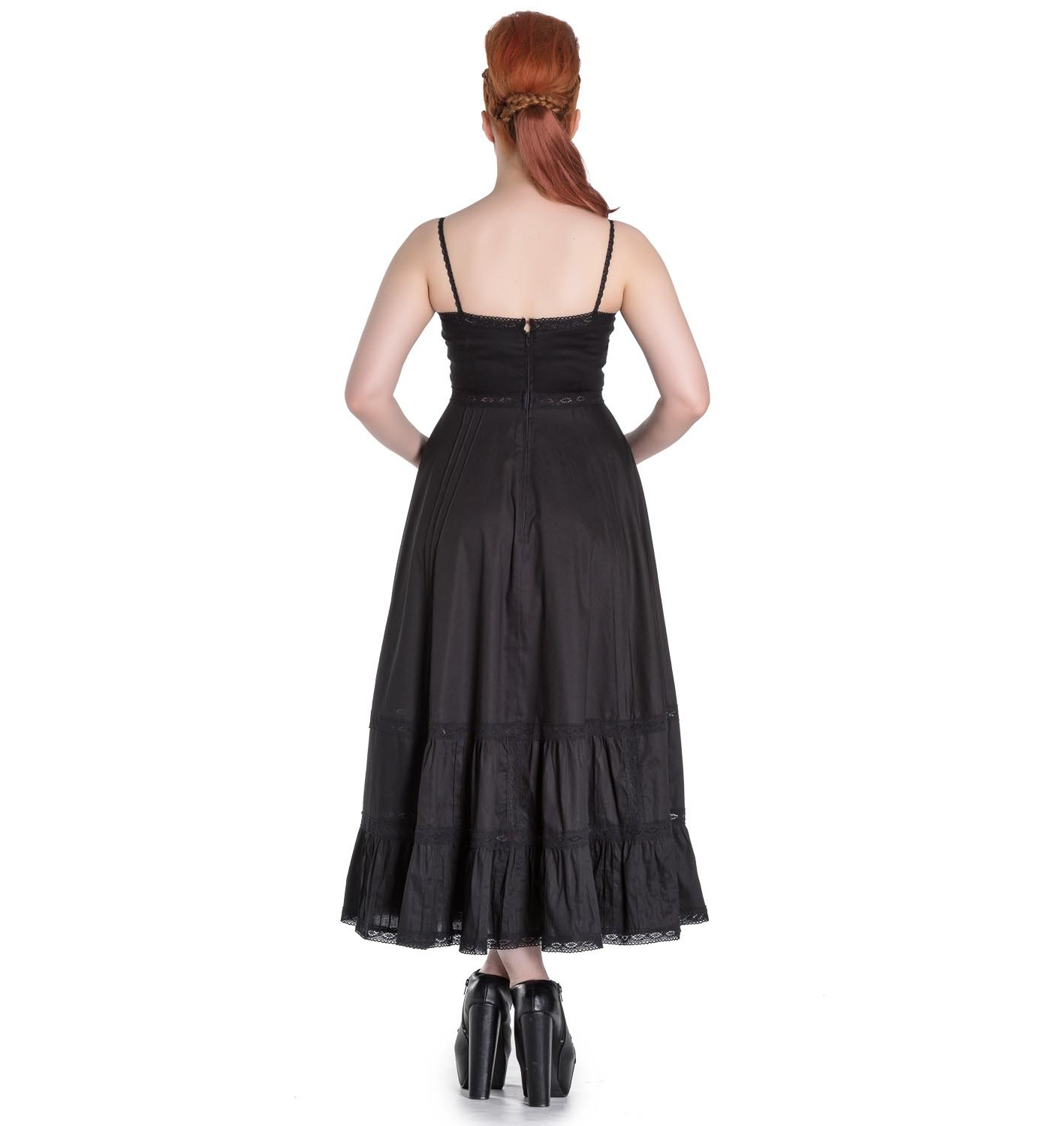 Hell-Bunny-Spin-Doctor-Goth-Maxi-Dress-ELIZABELLA-Black-All-Sizes thumbnail 5