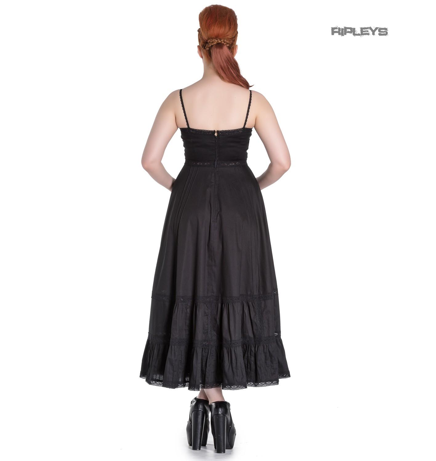 Hell-Bunny-Spin-Doctor-Goth-Maxi-Dress-ELIZABELLA-Black-All-Sizes thumbnail 4