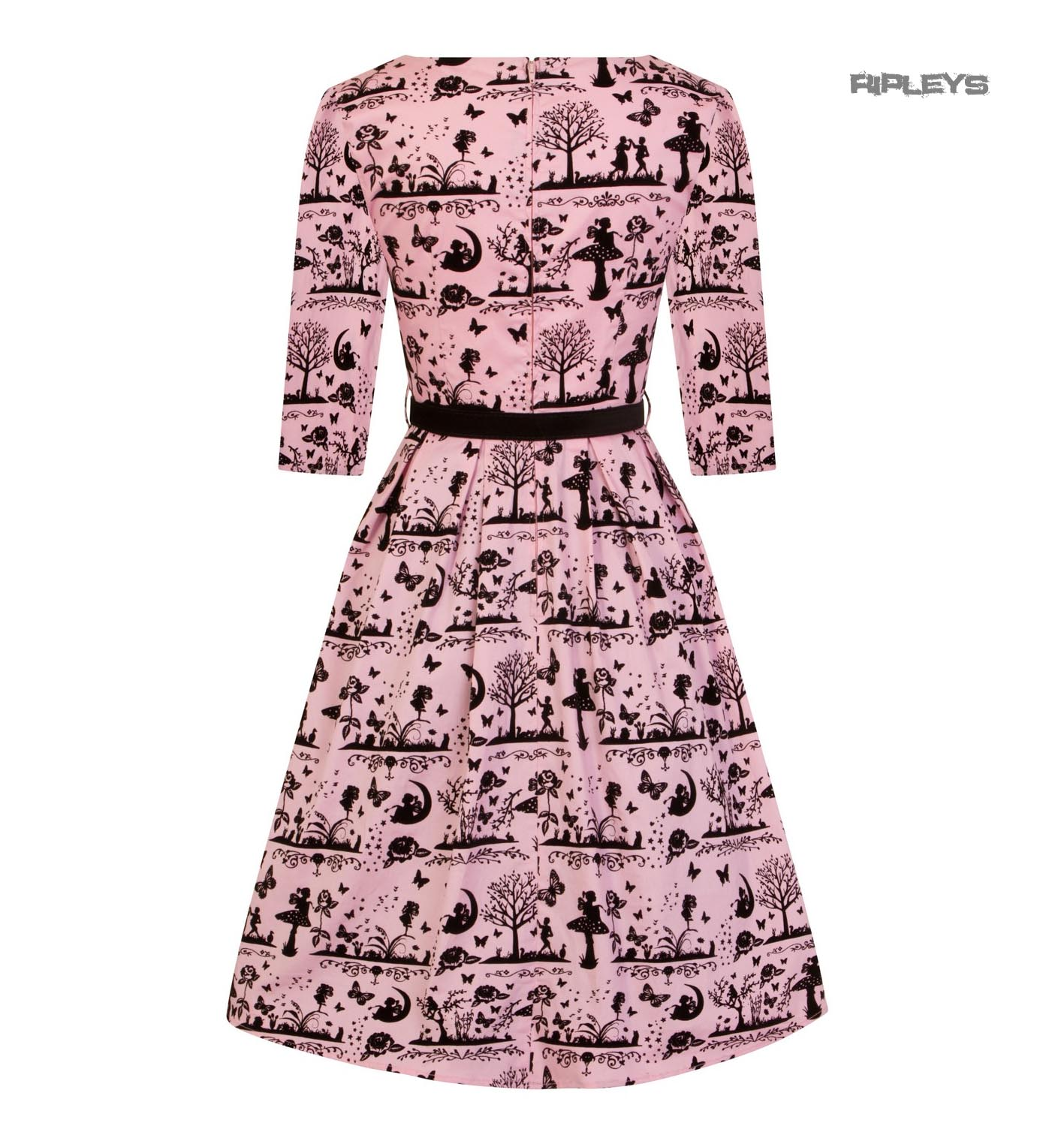 Hell-Bunny-40s-50s-Pin-Up-Dress-Fairy-Butterfly-ANDERSON-Black-Pink-All-Sizes thumbnail 12