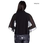 Hell Bunny Elegant Shirt Gothic Vampire Top DRACO Blouse Chiffon All Sizes Thumbnail 3