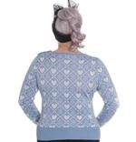 Hell Bunny Winter Christmas Jumper AURORA Snowflake Sky Blue All Sizes Thumbnail 4