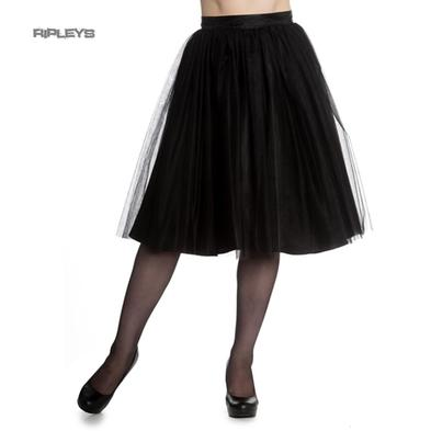 Hell Bunny Gothic Fairy 50s Skirt BALLERINA Black Tulle Net All Sizes