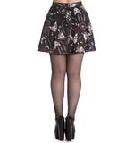 Hell Bunny Spin Doctor Mini Skirt Gothic Black ARCANE Sphynx Cats All Sizes Thumbnail 4