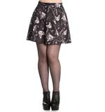 Hell Bunny Spin Doctor Mini Skirt Gothic Black ARCANE Sphynx Cats All Sizes Thumbnail 2