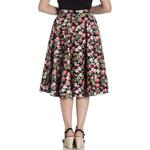 Hell Bunny Pin Up Vintage 50s Skirt STRAWBERRY Sundae Black All Sizes Thumbnail 4