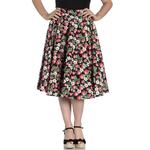 Hell Bunny Pin Up Vintage 50s Skirt STRAWBERRY Sundae Black All Sizes Thumbnail 2