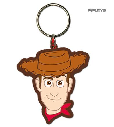 Official Disney TOY STORY 4 Rubber Keyring Keychain Gift 'Woody'