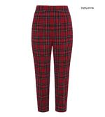 Hell Bunny 40s 50s Red Tartan Peebles IRVINE Cigarette Capris Trousers All Sizes Thumbnail 3
