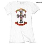 Official Skinny GUNS N ROSES T Shirt 'Appetite For Destruction' White All Sizes Thumbnail 1