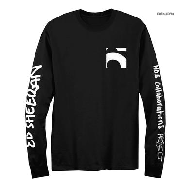 Official T Shirt ED SHEERAN Collaborations Album 'Black No. 6' L/Sleeve All Size