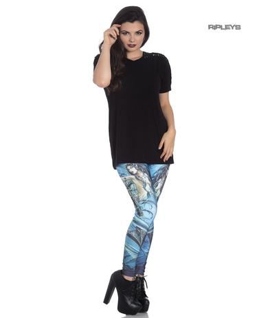 Hell Bunny Gothic Blue Leggings SEDNA Mermaid Siren All Sizes