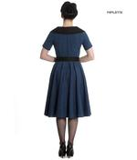 Hell Bunny 40s 50s Pin Up Swing Dress Black Navy BRIDGET Gingham All Sizes Thumbnail 3
