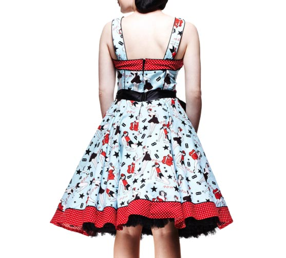 HELL-BUNNY-50s-Rockabilly-DIXIE-DRESS-Pin-Up-Vintage-All-Sizes thumbnail 3