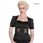Hell Bunny Spin Doctor Vampire Gothic Blouse LORENA Steampunk Top All Sizes Thumbnail 1