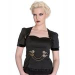 Hell Bunny Spin Doctor Vampire Gothic Blouse LORENA Steampunk Top All Sizes Thumbnail 2