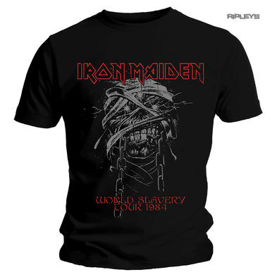 Official Metal T Shirt IRON MAIDEN World Slavery 'Tour 1984' All Sizes