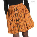 Hell Bunny Vintage 50s Brown Mini Skater Skirt VIXEY Fox Print Vixen All Sizes Thumbnail 6