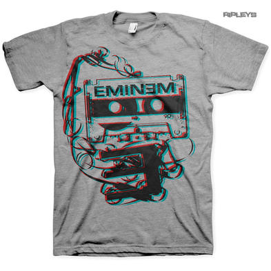 Official T Shirt Marshall Mathers EMINEM Slim Shady 'Tape Cassette' All Sizes Preview