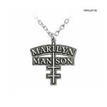 Official Alchemy MARILYN MANSON Necklace Pendant Metal CROSS Chain Thumbnail 1